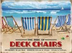 Deckchairs Seaside Beach Nautical Cafe Metal Steel Sign Plaque